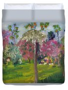 Crab Apple Blossom Time Duvet Cover