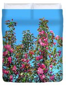 Crab Apple Blossoms Duvet Cover