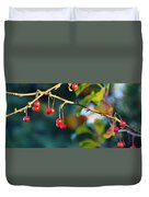 Crab Apples Branches P 6543 Duvet Cover