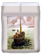 Crab Fisherman Duvet Cover