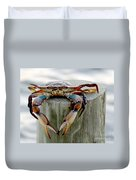 Crab Hanging Out Duvet Cover