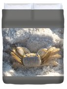 Crab On The Beach Duvet Cover