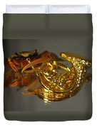 Crab Play Horn Duvet Cover