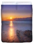 Crab Trap Sunset Le Duvet Cover