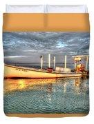 Crabbing Boat Beth Amy - Smith Island, Maryland Duvet Cover