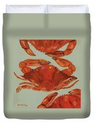 Crabs Tonight Duvet Cover