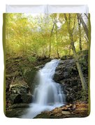 Crabtree Falls In The Fall Duvet Cover