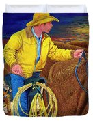 Cracker Cowboy Sunrise Duvet Cover