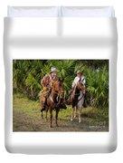 Cracker Cowboys Duvet Cover