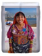 Craft Vendor In Panama City, Panama Duvet Cover