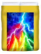 Rainbow Color Lightning Duvet Cover