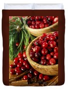 Cranberries In Bowls Duvet Cover by Elena Elisseeva