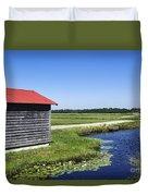Cranberry Bogs Duvet Cover