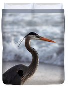 Crane By The Sea Duvet Cover