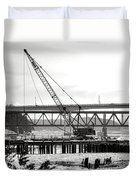 Crane In Winter Duvet Cover