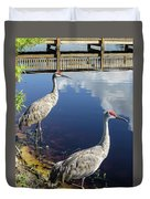 Cranes At The Lake Duvet Cover