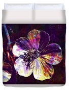 Cranesbill Flower Close Bee Insect  Duvet Cover