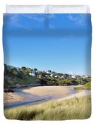 Crantock And The Gannel Duvet Cover