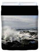 Crashing Waves At Cape Perpetua Duvet Cover