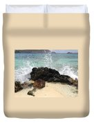 Crashing Waves At Sugar Beach Duvet Cover