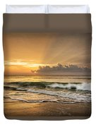 Crashing Waves At Sunrise Duvet Cover
