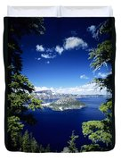Crater Lake Duvet Cover by Allan Seiden - Printscapes