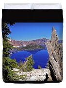 Crater Lake And Wizard Island Duvet Cover