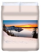 Crater Lake Dawn Duvet Cover
