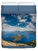 Crater Lake From Watchman Overlook Duvet Cover