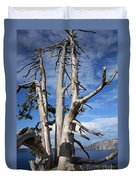 Crater Lake Tree Duvet Cover