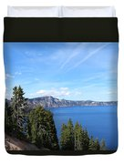 Crater Lake View  Duvet Cover