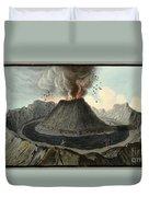 Crater Of Mount Vesuvius, Before 1767 Duvet Cover