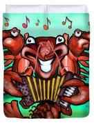Crawfish Band Duvet Cover