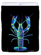 Crawfish In The Dark - Blublue Duvet Cover