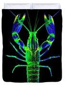 Crawfish In The Dark - Bluegreen Duvet Cover