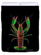 Crawfish In The Dark - Greenred Duvet Cover