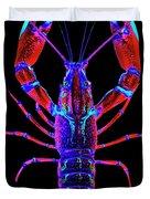 Crawfish In The Dark-  Redblue Duvet Cover