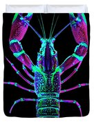 Crawfish In The Dark - Rosegreen Duvet Cover