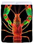 Crawfish In The Dark - Rouillegreen Duvet Cover