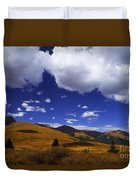 Crazy Blue Sky Duvet Cover by Barbara Schultheis