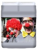 Crazy Circus Clowns Duvet Cover