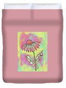 Crazy Flower With Funky Leaves Duvet Cover