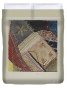 Crazy Quilt (detail) Duvet Cover