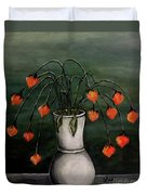 Crazy Red Flowers Duvet Cover