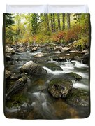 Crazy Woman Creek In Autumn Duvet Cover