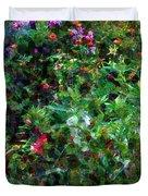 Crazyquilt Garden Duvet Cover