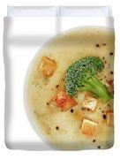 Cream Of Broccoli Soup Duvet Cover