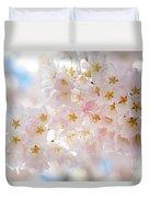 Creamy Blossoms Duvet Cover