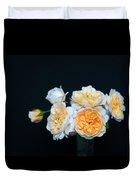 Creamy English Roses Duvet Cover