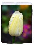 Creamy Pale Lemon Tulip Duvet Cover